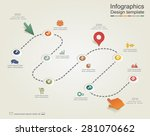 infographic report template... | Shutterstock .eps vector #281070662