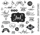 set of hand drawn 'and' words... | Shutterstock .eps vector #281071082
