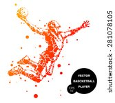 abstract basketball player in... | Shutterstock .eps vector #281078105