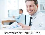 handsome businessman at work...   Shutterstock . vector #281081756