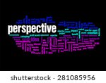 perspective word on cloud... | Shutterstock . vector #281085956