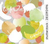 seamless vector watercolor... | Shutterstock .eps vector #281092496