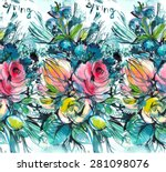 print  seamless pattern with... | Shutterstock .eps vector #281098076
