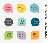 collection of promo seals... | Shutterstock .eps vector #281099078