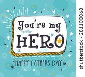 vintage greeting card design...   Shutterstock .eps vector #281100068