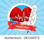 medicine  health  poster ... | Shutterstock .eps vector #281100572