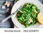 fresh green salad with arugula  ... | Shutterstock . vector #281104892