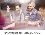 time for beer with friends | Shutterstock . vector #281107712