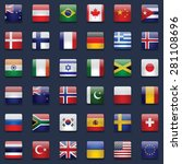 world flags vector collection.... | Shutterstock .eps vector #281108696