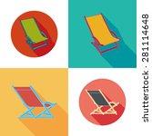 lounger beach sunbed chairs... | Shutterstock .eps vector #281114648