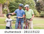 happy multi generation family... | Shutterstock . vector #281115122