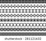 set of eight illustrated... | Shutterstock .eps vector #281121632