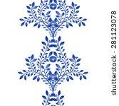 vector blue floral watercolor...