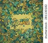 doodles abstract decorative... | Shutterstock .eps vector #281130182