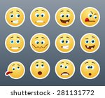 beautiful and funny yellow... | Shutterstock .eps vector #281131772
