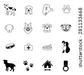 dog icons set vector... | Shutterstock .eps vector #281133668