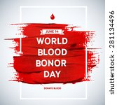 creative blood donor day... | Shutterstock .eps vector #281134496