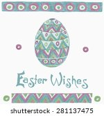 easter holiday design elements  ... | Shutterstock .eps vector #281137475
