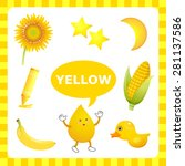 learn the color yellow   things ... | Shutterstock .eps vector #281137586