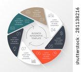 vector circle infographic.... | Shutterstock .eps vector #281138216