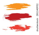 strokes of paint isolated on... | Shutterstock .eps vector #281140952
