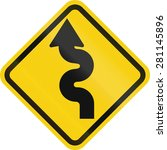 colombian road warning sign ... | Shutterstock . vector #281145896