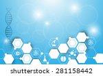 vector background science... | Shutterstock .eps vector #281158442