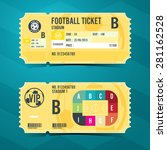 football ticket card retro... | Shutterstock .eps vector #281162528