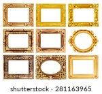 the antique gold frame on the... | Shutterstock . vector #281163965