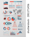 world map infographic. vector... | Shutterstock .eps vector #281171456