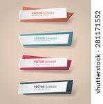 vector infographic origami... | Shutterstock .eps vector #281171552