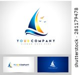 creative sailing boat logo.... | Shutterstock .eps vector #281179478