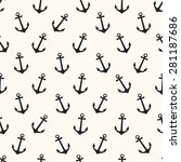 anchor blue sea vector seamless ... | Shutterstock .eps vector #281187686