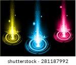 dark yellow blue pink light... | Shutterstock .eps vector #281187992