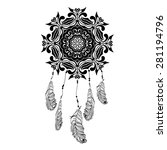 indian dream catcher in a... | Shutterstock .eps vector #281194796