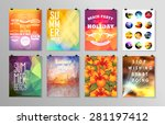 set of poster  flyer  brochure... | Shutterstock .eps vector #281197412