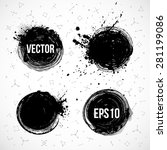 four grunge circles with place... | Shutterstock .eps vector #281199086