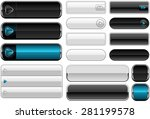 web design elements   buttons. | Shutterstock .eps vector #281199578
