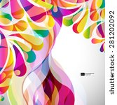 abstract colorful arc drop... | Shutterstock .eps vector #281202092