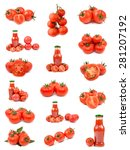 tomatoes and tomato juice | Shutterstock . vector #281207192
