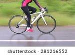 Racing Bike Motion Blur Female...