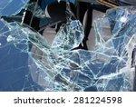 car crash   broken glass | Shutterstock . vector #281224598