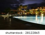 Luxurious Hotel Pool By Night