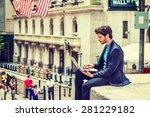 businessman working on street...   Shutterstock . vector #281229182