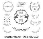 original vintage badges ... | Shutterstock .eps vector #281232962