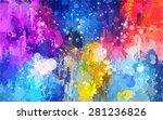 colorful shine brush strokes...