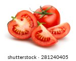 tomatoes isolated | Shutterstock . vector #281240405