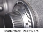 combination lock on the safe... | Shutterstock . vector #281242475
