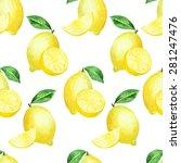 vector seamless watercolor... | Shutterstock .eps vector #281247476