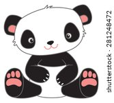 cute cartoon teddy bear panda | Shutterstock .eps vector #281248472